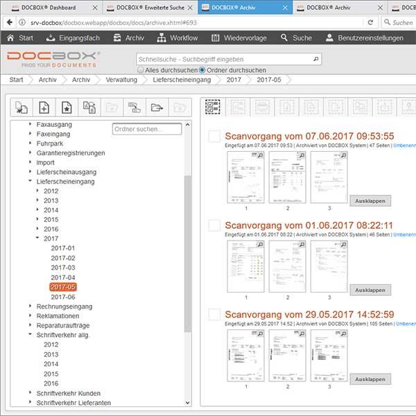 DOCBOX®. Digitale Archivierung und Dokumentenmanagementsystem